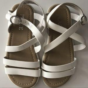 Children's Place White Strappy Sandals Size 11